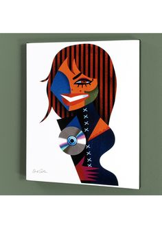DAVID COWLES Limited Edition ''J.J.'' Giclee on Stretched Canvas