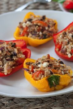 These tuna stuffed bell peppers are healthy, delicious and a great weeknight meal option.