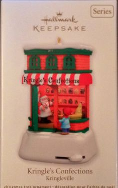 Hallmark ornament. Kringle's confections. Kringleville. 2nd in series. 2011