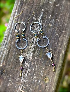 Steel Assemblage Earrings with Antique by practicallyfrivolous