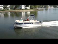 Even though the G-Series is one of Benningtons mid-level models, it features a high level of comfort, such as at the stern, where a pair of extra-wide rear-facing Super Lounges with enhanced headrests and hot tub-style seating surfaces reside.  This is a review with a demo on Boston Harbor, so imagine how smooth it will handle on Lake Oconee!