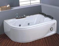 878 WHIRLPOOL Jacuzzi CORNER BATH DOUBLE PILLOW1700mm x 1150mm  2 PERSON spa