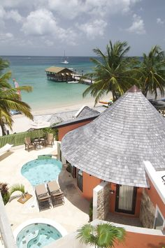 #Castries #StLucia | Sandals Grand St. Lucian Spa & Beach Resort | Grande Luxe beachfront rondoval suite with private pool