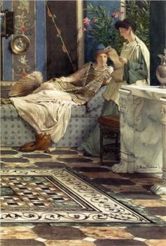 From An Absent One - Sir Lawrence Alma-Tadema, 1871