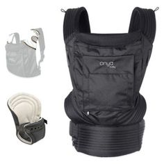 Onya Baby Outback Bundle Baby Carrier in Jet Black - buybuyBaby.com