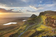 The Quirang is a landslip on the Isle of Skye in Scotland that is known for its supernatural qualities. Epic sunsets and incredible views are guaranteed.