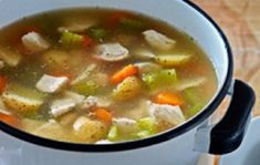 Those with diabetes are prone to colds, flu, and viral infections. Chicken soup appears to have medicinal properties that lessen cold symptoms. Here is a great recipe for homemade chicken soup. Diabetic Soups, Homemade Chicken Soup, Cold Symptoms, Flu Season, Cheeseburger Chowder, Great Recipes, Healthy Eating, Diet, Diabetes