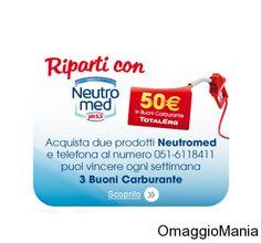 Vinci buoni carburante da 50 euro con Neutromed - http://www.omaggiomania.com/concorsi-a-premi/vinci-buoni-carburante-da-50-euro-con-neutromed/