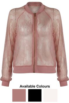 Sheer Lace Bomber Jackets - Buy Fashion Wholesale in The UK