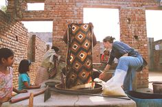 block shop textiles - committed to building a community in India where their printed scarves are made