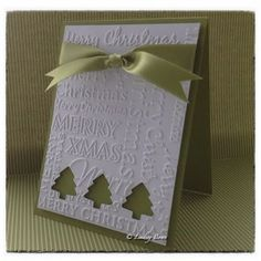 Nice card easy to make on mass for all my friends. CAS card, Christmas card, Stampin Up www.hobbycraft.co...