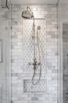 bathroom shower Delightful Traditional Bathroom Design Ideas To Not Miss Master Bathroom Shower, Bathroom Showers, Kohler Bathroom, Vanity Bathroom, Houzz Bathroom, Tiled Showers, Bathroom Canvas, Shiplap Bathroom, Washroom