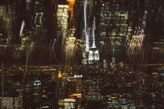 New York City texture by night by Wave   Stocksy United