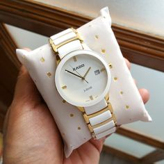 Rado Brand boxes In-Stock & Couple Watch Ready to ship   # Rado # For Couple # 7A Only # Jubilee (White Gold) # Features-Working date, full ceramic scratch resistant white n gold chain  ✨ New updated price & Free 2 Rado brand boxes✨  Available @ Rs 3000+Ship (Each Watch)