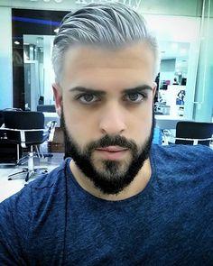 #greyhair #greyhaircolor #beard #blackbeard #contrast #ahorasi #meencanta #porn…
