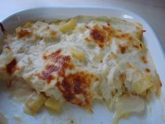 Bacalhau com natas (Portuguese Food) My mom makes the best (w/ yogurt instead of cream) ^_^
