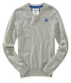 A87 Solid V-Neck Cotton Sweater 3/17AERO限量集氣團,清倉價再七折,原價1515,這件標價再七折不用 $540,請趕緊到粉絲團留言享優惠喔! https://www.facebook.com/pages/E7buy2010/102761503125900