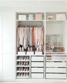 A round-up of the best closet makeovers using the IKEA Pax system with hacks to make it look custom and solutions for creating the most functional closet. Bedroom Closet Design, Room Ideas Bedroom, Closet Designs, Home Bedroom, Bedroom Decor, Small Closet Design, Small Closets, Closet Ideas For Small Spaces, Ikea Small Spaces