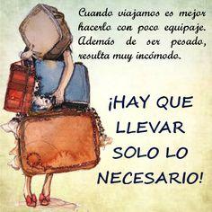 Viajemos con poco equipaje y regresemos cargados de experiencia y energía #ViajesdelComercio www.viajesdelcomercio.com
