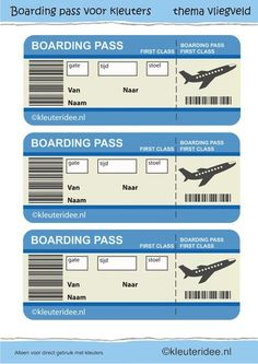 boarding pass for role play. Airport Theme, Dramatic Play Area, Airplane Party, Airplane Kids, Transportation Theme, Play Centre, Thinking Day, Travel Themes, Summer School