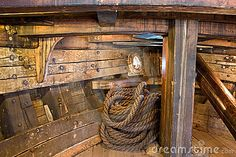 Ship Interior With Rope