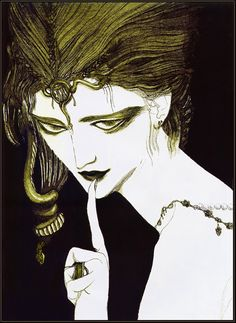 by Yoshitaka Amano Character Aesthetic, Character Art, Character Design, Manga, Yoshitaka Amano, Vampire Hunter D, Macabre Art, Arte Horror, Japanese Artists
