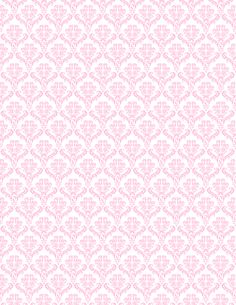 Free pink and white damask pattern