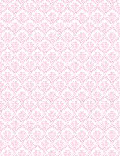 Free pink and white damask pattern