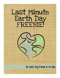 Last-Minute Earth Day FREEBIE! Super low-prep for those of us that want a quick way to work in Earth Day, while still having students think creatively and sustainably.