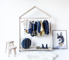 Showcase your kid's costume collection with our modern, simple and Scandinavian inspired Monty Dress-up Stand. Available in two sizes, mini and large. It is a gorgeous wardrobe stand made of na...