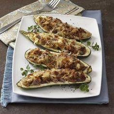 Stuffed Grilled Zucchini