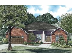 Eplans European House Plan - Three Bedroom European - 1786 Square Feet and 3 Bedrooms from Eplans - House Plan Code HWEPL62209