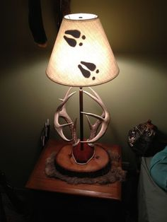 DIY: Antler Mount Lamp...this is kinda cool