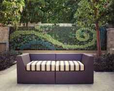 Outdoor Living Wall - contemporary - patio - los angeles - Bright Green This is an amazing wall! Outdoor Rooms, Outdoor Walls, Outdoor Gardens, Outdoor Living, Outdoor Furniture Sets, Outdoor Decor, Outdoor Art, Outdoor Daybed, Outdoor Seating