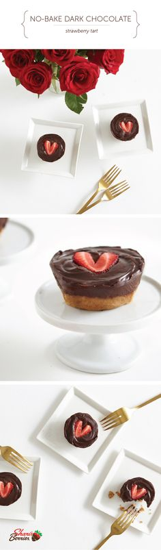 The best acts of love, are unexpected. Treat your sweetheart with this delicious National Romance Month surprise. Chocolate + Strawberry + Roses = oh my! Strawberry Tarts, Strawberry Pretzel Salad, Strawberry Breakfast, Strawberry Shortcake Party, Chocolate Strawberries, Strawberries And Cream, Love Chocolate, Chocolate Cake, Holiday Candy