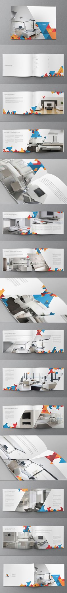 Modern Geometric Brochure by Abra Design, via Behance #design #template