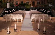 Devonshire Terrace - white carpeted stage, 29 white hanging paper lanterns with internal LED lights by www.stressfreehire.com #venuetransformers; venue's own chairs, aisle runner by the client direct Hanging Paper Lanterns, White Carpet, Corporate Events, Terrace, This Is Us, Stage, Chairs, Led, Lights