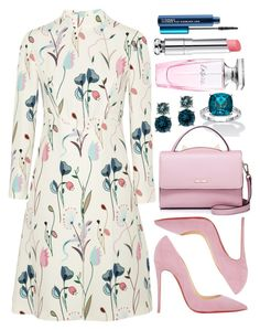 Untitled #4411 by natalyasidunova on Polyvore featuring Miu Miu, Christian Louboutin, WithChic, Anne Klein, MAC Cosmetics, Balmain and Christian Dior