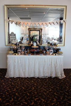 Gold & Black Candy Buffet