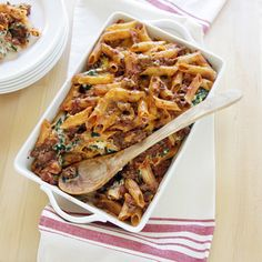 Tex-Mex Pasta Bake is a tasty layered casserole with a southwestern flavor flair that will soon become a family favorite! Ground turkey or chicken can be substituted for the ground beef.