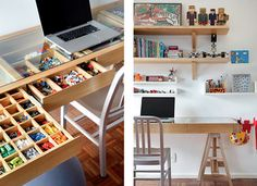 very cool lego storage - gorgeous blog.... I want it all