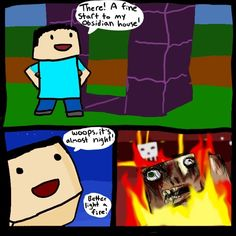 If you play minecraft you will understand :) Minecraft Jokes, Minecraft Secrets, Minecraft Comics, How To Play Minecraft, Minecraft Party, Minecraft Stuff, Video Game Logic, Video Games, Cool Minecraft Creations