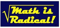 Math is Radical Math Geek Geekette Tshirt by BioChickiee on Etsy, $14.99