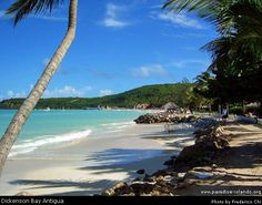 Dickenson Bay, Antigua... best sand ever! Want to go back here & see more of the island ( more beaches! )