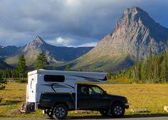 Northstar truck camper in Glacier National Park