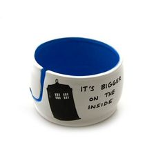 Doctor Who Yarn Bowl, Tardis, Bigger on the Inside, large yarn bowl Because Yarn…