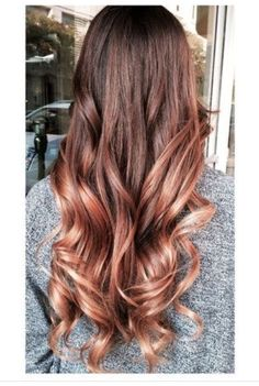 Rose Gold hair Color! (On light brown hair)  Light and elegant yet very enticing!