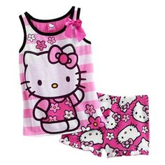 Hello Kitty Striped and Floral Pajama Set - Girls  Kohls Children Outfits db3909437d51c