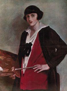 Autorretrato, 1925 - María de los Ángeles López Roberts y Muguiro (Madrid, circa 1890) Portrait, Madrid, Painting, Art, Art Background, Men Portrait, Painting Art, Kunst, Gcse Art