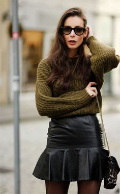 knits + leather <3